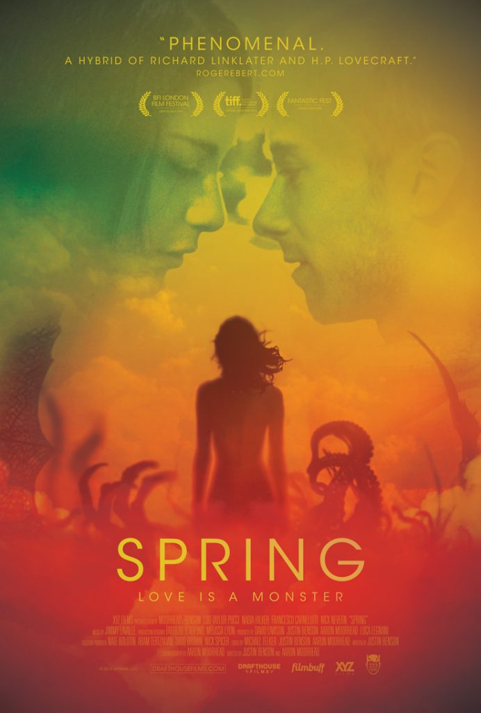 This images shows a picture of the SPRING (2014) movie poster.